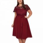 Платье на корпоратив для полной MN209-4