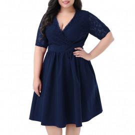Нарядное платье на полную фигуру MN208-3