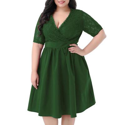 Вечернее зеленое платье большого размера MN208-2