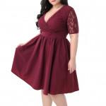 Нарядное платье с декольте для полных MN208