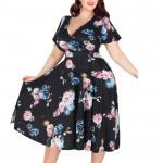 Летнее платье большого размера MN206-2