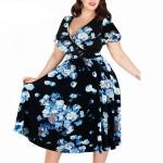 Летнее платье для пышных девушек MN206-4