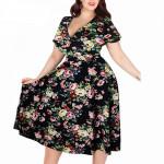 Летнее платье для полных женщин MN206-5