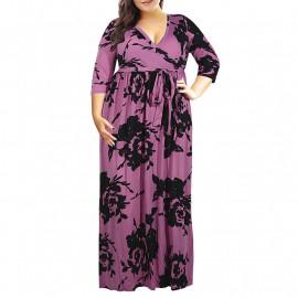 Летнее платье для полных дам MN201-4