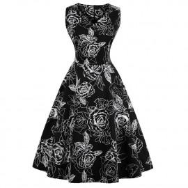 Летнее платье для полных девушек MN202-9
