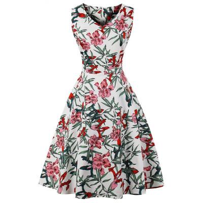 Летнее платье с цветочным принтом большие размеры MN202-8