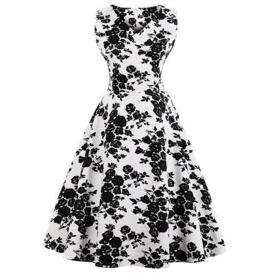 Летнее платье с цветочным принтом для пышных дам MN202-4