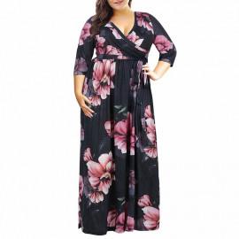 Летнее платье большого размера MN201-1