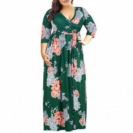 Длинное летнее платье для полных MN201
