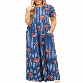 Длинное платье на лето для полных дам MN200-9