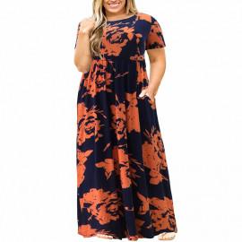 Женское летнее платье большого размера MN200-6