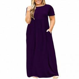 Платье летнее длинное для полных женщин MN200-2