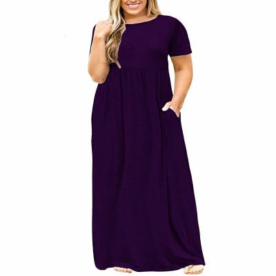 Платье женское летнее длинное для полных женщин MN200-2, цвет темно-синий