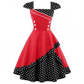 Женское платье большого размера в стиле ретро ММ197-2