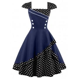 Женское платье большого размера в стиле ретро ММ197-3