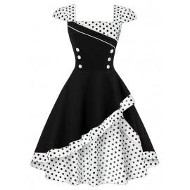 Женское платье большого размера в стиле ретро ММ197