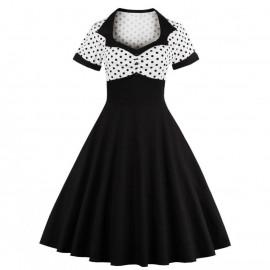 Женское ретро платье большого размера ММ193
