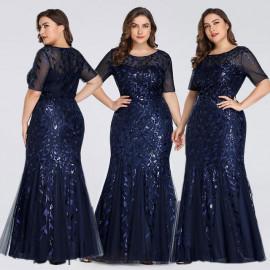 Длинное платье в пол для полных женщин MN016-8